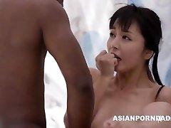 Asian fuck by two black boners - ASIANPORNDADD