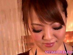 Busty japanese milf boob banging