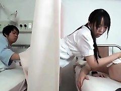 Wild dark haired Japanese nurse part4