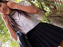softcore asian schoolgirl upskirt g-string tease