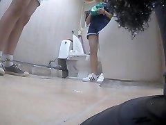 Korean chick using toilet part Five