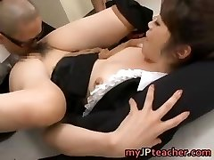 Maki Houjo Hot Asian teacher enjoys sex part5