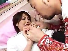 Mind-blowing babe has a wild guy kissing and caressing her lo