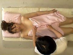 Kinky Jap broad takes cock in hidden webcam massage room video