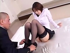 Horny Japanese girl Misa Nishida in Exotic Cunnilingus, Stockings JAV clamp