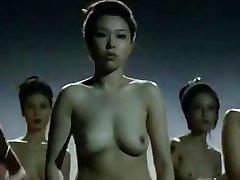 Naked China girls  struggling