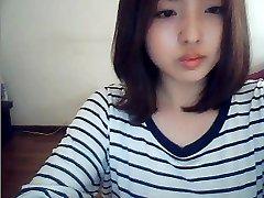 korean chick on web webcam