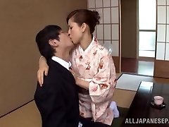 Yuri Matsushima torrid mature Japanese honey in kimono gets 69