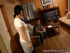 Horny japanese mature babes deep-throating part4