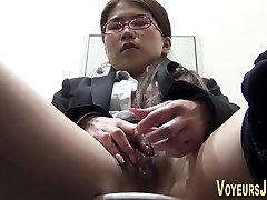 Japanese ho masturbating