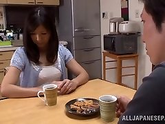 Molten mature Asian housewife Chihiro Uehara in hot 69