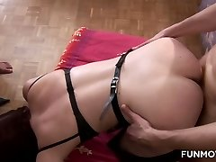 Lusty Karin Super-naughty is ready to take soiree in masquerade orgy at home