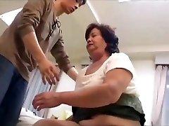 Hairy bbw japanese granny enjoys taboo