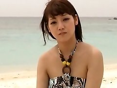 Horny Japanese model Rei Mizuna in Exotic Nubiles, Beach JAV clip