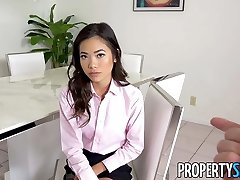PropertySex - Hot Asian real estate agent romps her boss
