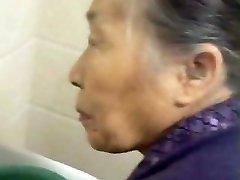 Fondling My Chinese Granny Elderly Pussy