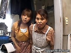 Horny japanese MILFS sucking and porking