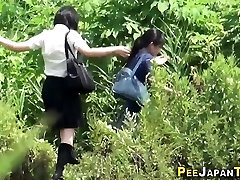 Teen asians urinate outside