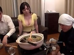 Big milk young woman and husband's leader sex