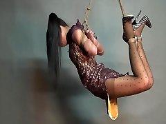 Yaner extraordinary hogtie-suspend challenge