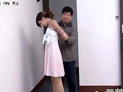 Chinese dame in bondage