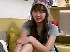 Cool busty japanese teen girlfriend fingers