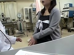 Big-boobed doc pulverizes her Jap patient in a medical fetish video