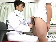 Subtitled CFNM Japanese doc handjob instructional