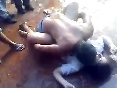 Colleg female pummeled in public