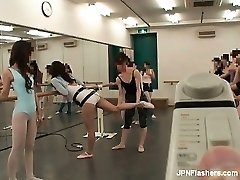 black-haired Asian breezy dancing ballet part5