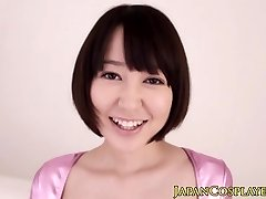 Flexible japanese babe vibrated with toys