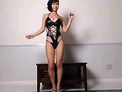 Miyu dancing - shiny bodysuit non-bare
