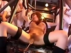 Japanese woman in the machine delight