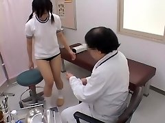 Teenager gets her pussy explored by a naughty gynecologist