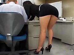 Japanese office girl gets penetrated by two