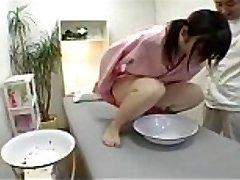 Japanese girl in a hottie parlour to undergo urine test