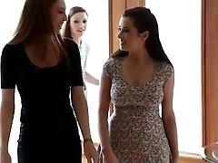 Asa Akira and Taylor Vixen girly-girl humping