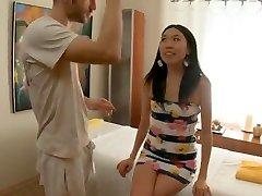 Skinny Asian Massaged and Fucked