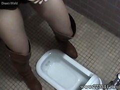 The girl who put it on in a Asian-style wc