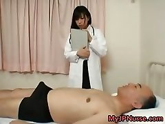 Japanese doctor is horny for manhood part1