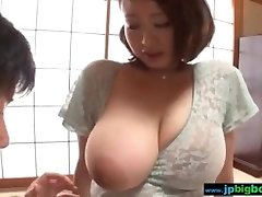 Busty japanese girl touched and fucked 2/4