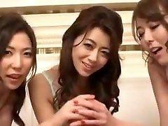 3 Asian Babe Blow-job POV