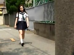Covert camera action with individual teacher messing with his busty hot student