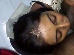 Jizz on Desi Face