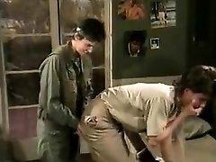 Jamie Summers, Kim Angeli, Tom Byron in classic fuck-fest scene