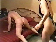 My wife severely disciplined by a mistress. Home made vid