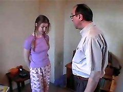 Dad & Friend Spank Pretty Daughter xLx