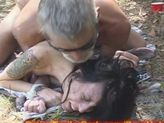 Cougar MOM used a SEX Gimp in WOODS