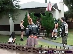 XXXSuicide Emo and Goth Rock babes taking cock in all crevices