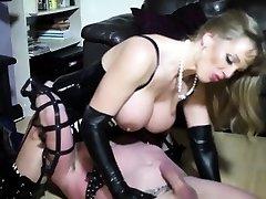 Funny femdom wife ass-fucked by her slaveboy
